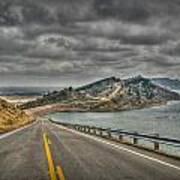 Horsetooth Reservoir Stormy Skies Hdr Print by Aaron Burrows