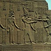 Horus Donant El BastÓ Del Poder Al FaraÓ Art Print
