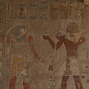 Horus Is Shown Receiving Gifts Art Print