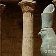 Horus Temple Of Edfu Egypt Art Print by Bob Christopher