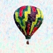 Hot-air-balloon Art Print