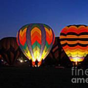 Hot Air Balloons At Dusk Art Print