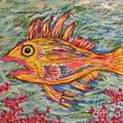 Hot Lips The Fish Art Print