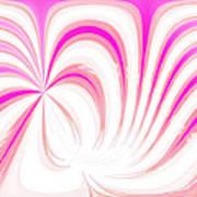 Hot Pink Swirls Art Print