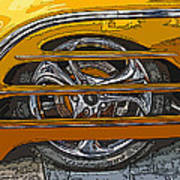 Hot Rod Wheel Cover Art Print