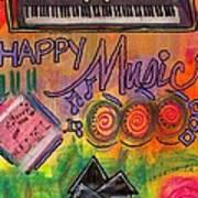 House Of Happy Music Art Print