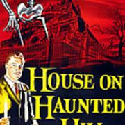 House On Haunted Hill, Bottom Left Art Print by Everett