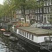 Houseboats Of Rotterdam Art Print