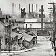 Houses And Steelmill Art Print