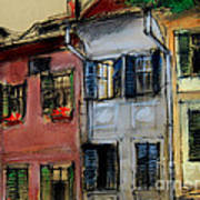 Houses In Transylvania 1 Art Print