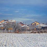 Houses In Winter Art Print