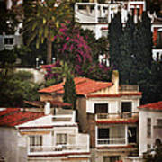 Houses On The Hill Nerja Art Print by Mary Machare