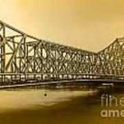 Howrah Bridge Art Print by Mukesh Srivastava