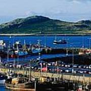 Howth Harbour & Irelands Eye, Co Art Print