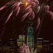 Hudson River Fireworks X Art Print
