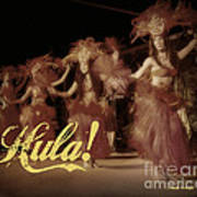 Hula Daguerreotype Art Print