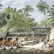 Human Sacrifice In Tahiti, Artwork Art Print