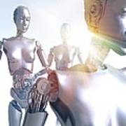 Humanoid Robots, Artwork Art Print