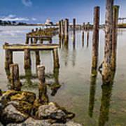 Humboldt Bay Over Darkening Skies Art Print