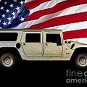 Hummer Patriot Art Print