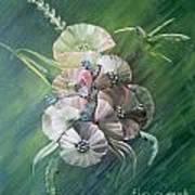 Hummingbird-green Art Print