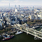 Hungerford Bridge Seen From London Eye Art Print