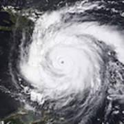 Hurricane Dean In The Atlantic Art Print