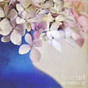 Hydrangeas In Deep Blue Vase Art Print