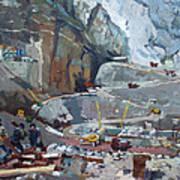 Hydropower Koman Art Print