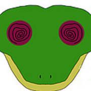 Hypno Frog Art Print