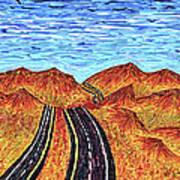 I - 15 Nevada To California Art Print