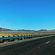 I-15 Highway, Los Angeles To Las Vegas Art Print
