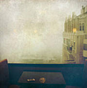 I Just Sat There Staring Out At The Fog Print by Laurie Search