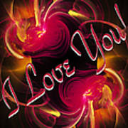 I Love You Card 2 Art Print