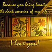 I Love You Night Graffiti Greeting Card Art Print