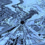 Ice Blue - Abstract Art Art Print by Carol Groenen