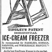 Ice Cream Freezer, 1872 Art Print