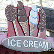 Ice Cream Sign Art Print
