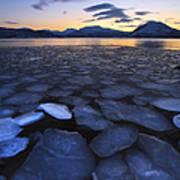 Ice Flakes Drifting Towards Print by Arild Heitmann