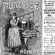 Ice Machine, 1891 Art Print