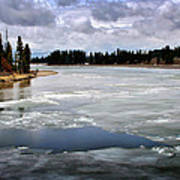 Ice On The Yellowstone River Art Print