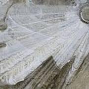 Ice Patterns On Pond, Alberta Canada Art Print