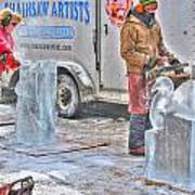 Ice Sculptures Coming About Art Print
