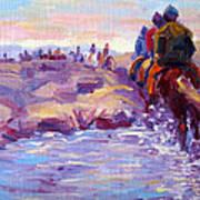 Icelandic Horse Trail Ride Art Print