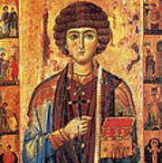 Icon Of Saint Pantaleon Art Print by Science Source