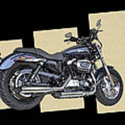 Iconic Harley Davidson Art Print