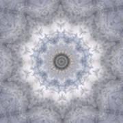 Icy Mandala 5 Art Print