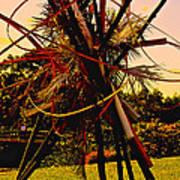 Ikebana Sunset Art Print