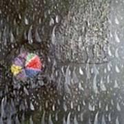 Illusion Of Black Rain Art Print