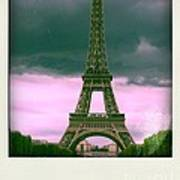 Illustration Of Eiffel Tower Art Print by Bernard Jaubert